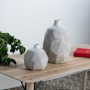 mercana concrete vases on table