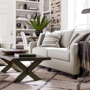 bassett furniture neutral sofa family room