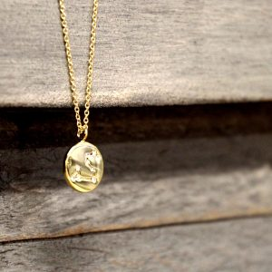 Zodiac Constellation Star Map Necklace Gold with Swarovski Crystals