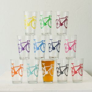 Vital Industries Bicycle Pint Glasses