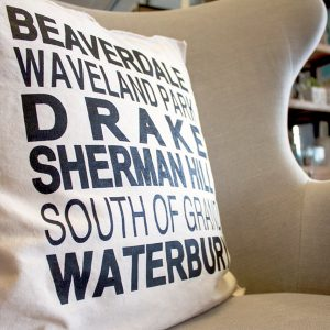 Des Moines Neighborhood Pillow Gift
