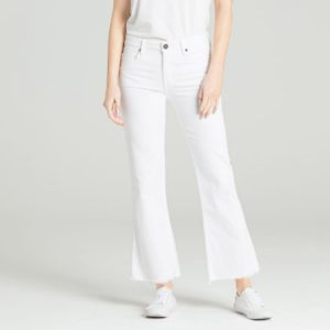 Parker Smith jeans brynna cropped flare jeans in white