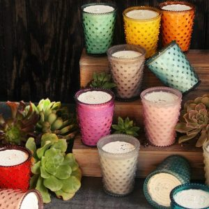 Collection Simpatico Hobnail Candles
