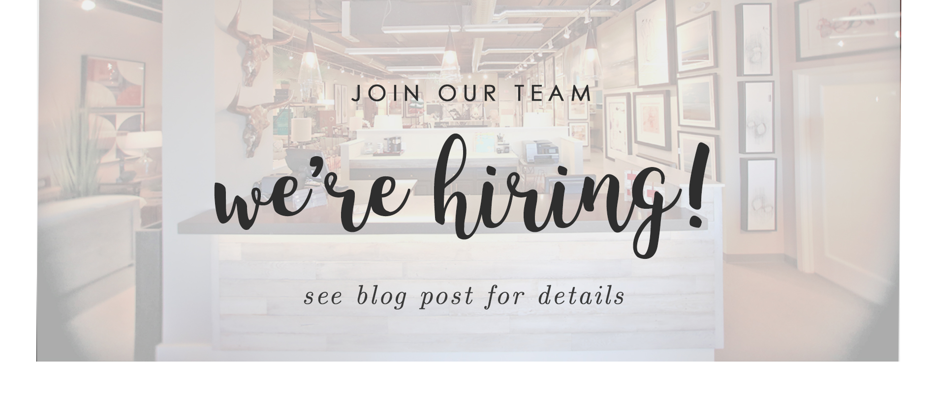 we're hiring - looking for enthusiastic retail sales associate to join team