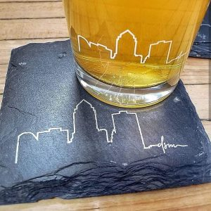 coaster barware glasses local artist cheers gifts