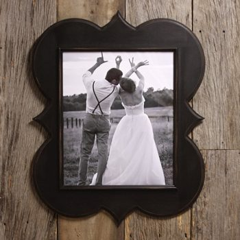 Custom color and size scallop wood frame