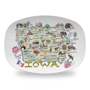 iowa map platter des moines great gifts