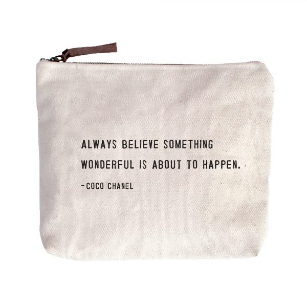 Sugarboo AC289 coco chanel canvas cosmetic tote zip pouch